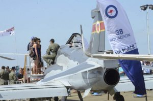 RAAF Hawk on static display